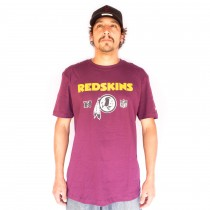 Camiseta New Era Washington Redskins Under Dance Vinho