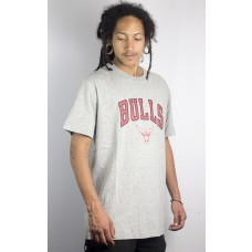 Camiseta New Era Essential Team Chicago Bulls Mescla Cinza